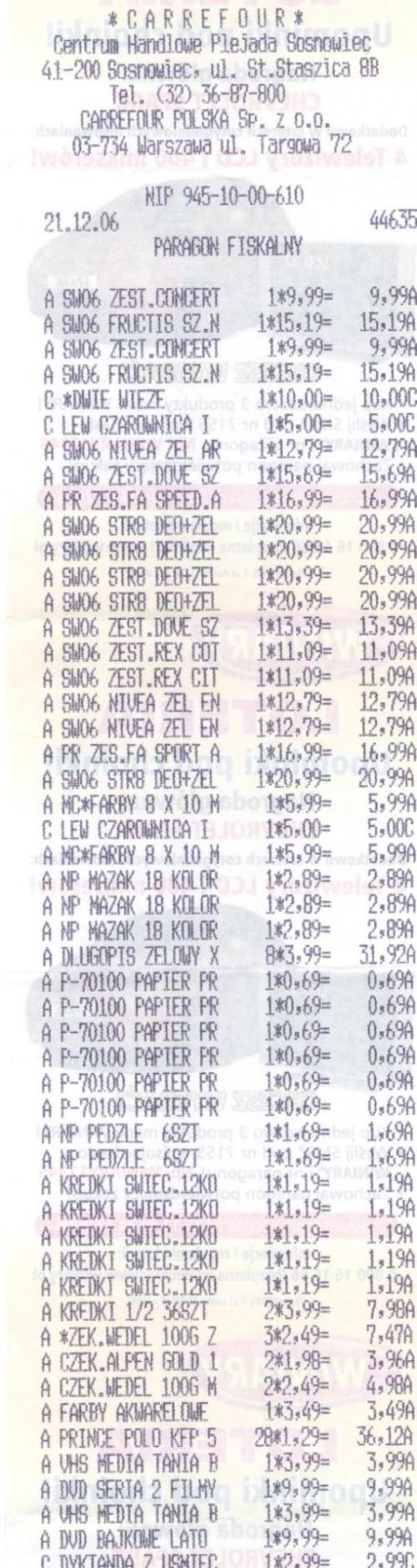 Paragon na zakupy w Carrefour - czesc 1