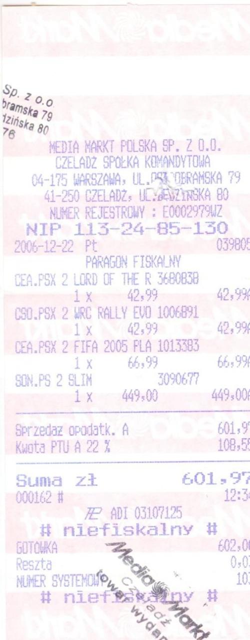 Paragon na zakup PS2 oraz gier na ta konsole