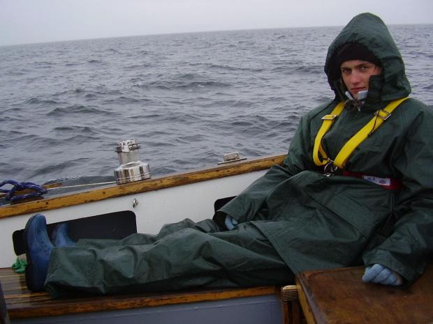 strój rybaka..na taka pogode niezbędny